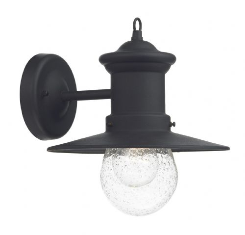 Dar Sedgewick 1 Light Lantern Black Down Facing IP44 SED1522